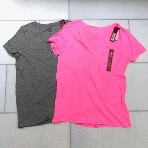 Merona Womens 2 T-ShirtsTop 100% Cotton Sz XL New